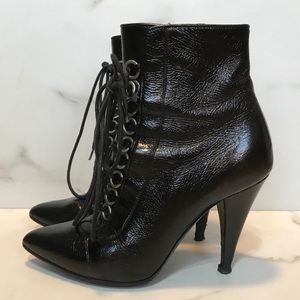 Saint Laurent Shoes - Saint Laurent fetish lace up leather ankle boot